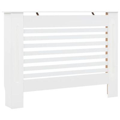 vidaXL Radiator Cover White 112x19x81.5 cm MDF,