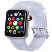 Glitter Silicone Watch Band for Apple Watch 38 mm - silver