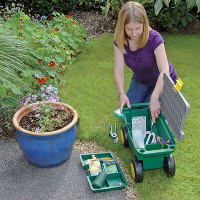 Draper Tools Garden Tool Cart and Seat 56x27.2x30.4 cm Green 60852