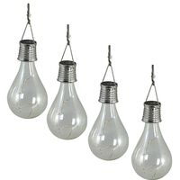 Luxform Solar LED Garden Party Lights 4 pcs Transparent 95420