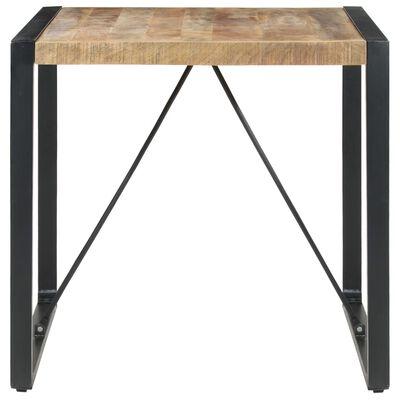 vidaXL Dining Table 80x80x75 cm Rough Mango Wood