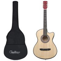 vidaXL 12 Piece Western Acoustic Cutaway Guitar Set with 6 Strings 38