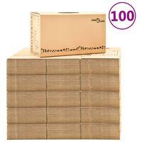 vidaXL Moving Boxes Carton XXL 100 pcs 60x33x34 cm