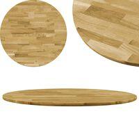 vidaXL Table Top Solid Oak Wood Round 23 mm 900 mm