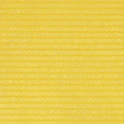 vidaXL Balcony Screen Yellow 75x600 cm HDPE