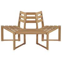 vidaXL Tree Bench Half-hexagonal 160 cm Solid Acacia Wood