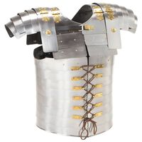 vidaXL Roman Soldier Body Armour Replica LARP Silver Steel