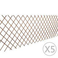 vidaXL Willow Trellis Fence 5 pcs 180x90 cm