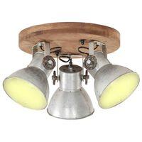 vidaXL Industrial Ceiling Lamp 25 W Silver 42x27cm E27