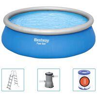 Bestway Fast Set Inflatable Swimming Pool Set Round 457x122 cm