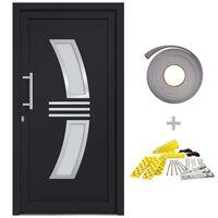vidaXL Front Door Anthracite 108x200 cm