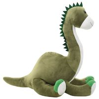 vidaXL Dinosaur Brontsaurus Cuddly Toy Plush Green