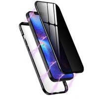 Magnetic case with privacy protection for iPhone 12 Pro Max Black