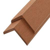 vidaXL 5 pcs Decking Angle Trims WPC 170 cm Light Brown