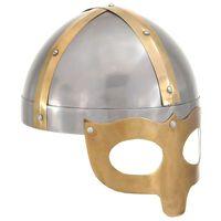 vidaXL Viking Helmet Antique Replica LARP Silver Steel