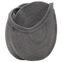 vidaXL Round Shoulder Bag Dark Grey Handmade Jute