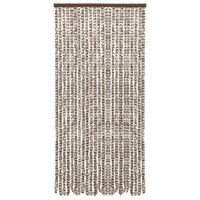 vidaXL Insect Curtain Taupe and White 100x220 cm Chenille