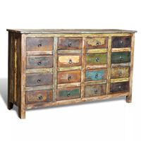 vidaXL Reclaimed Cabinet Solid Wood Antique-style with 16 Drawers