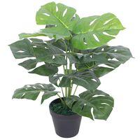 vidaXL Artificial Monstera Plant with Pot 45 cm Green