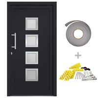 vidaXL Front Door Anthracite 98x208 cm