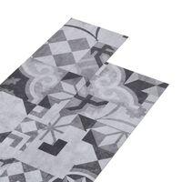 vidaXL PVC Flooring Planks 4.46 m² 3 mm Self-adhesive Grey Pattern