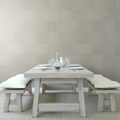 Grosfillex Wallcovering Tile Gx Wall+ 11pcs Wise Stone 30x60 cm Light Grey