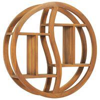 vidaXL Yin Yang Wall Shelf 60x15x60 cm Solid Teak Wood