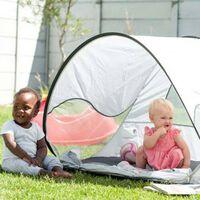 DERYAN Pop-up Beach Tent with Mosquito Net 120x90x80 cm Cream