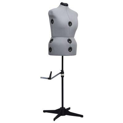vidaXL Adjustable Dress Form Female Grey L Size 44-50