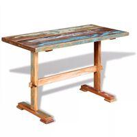 vidaXL Pedestal Dining Table Solid Reclaimed Wood 120x58x78 cm