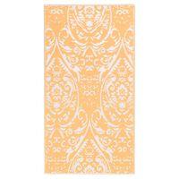 vidaXL Outdoor Carpet Orange and White 160x230 cm PP