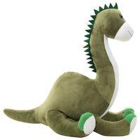 vidaXL Dinosaur Brontosaurus Cuddly Toy Plush Green