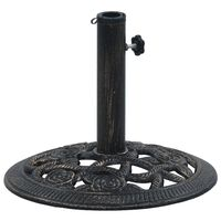 vidaXL Umbrella Base Black and Bronze 9 kg 40 cm Cast Iron