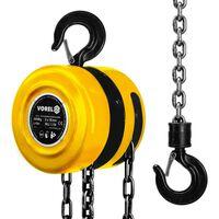 VOREL Chain Block 2000 kg Steel Yellow 80752
