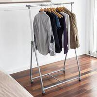 Storage solutions Clothing Rack 4 Wheels Metal