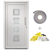 vidaXL Front Door White 98x200 cm