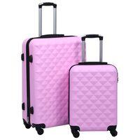 vidaXL Hardcase Trolley Set 2 pcs Pink ABS