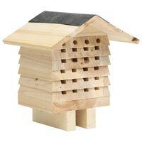 vidaXL Bee Hotel Solid Firwood 22x20x20 cm