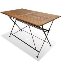 vidaXL Folding Garden Table 120x70x74 cm Solid Acacia Wood