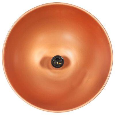 vidaXL Industrial Hanging Lamp Copper Round 32 cm E27 Solid Mango Wood