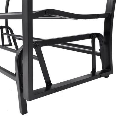 vidaXL Swing Bench Black Steel,