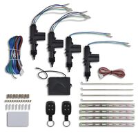Car Central Door Lock Kit with 2 Normal Remote Controls 4 Motors 12V