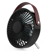 Perel Portable USB Fan Black and Brown