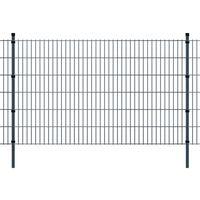 vidaXL 2D Garden Fence Panels & Posts 2008x1230 mm 20 m Grey