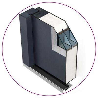 vidaXL Aluminium Front Door Anthracite 110x207.5 cm