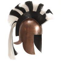 vidaXL Greek Warrior Helmet Antique Replica LARP Copper Steel