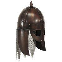 vidaXL Viking Warrior Helmet Antique Replica LARP Copper Steel