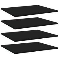 vidaXL Bookshelf Boards 4 pcs Black 60x50x1.5 cm Chipboard