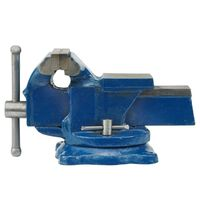 VOREL Bench Vice Swivel Base 150mm Blue