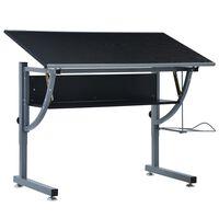 vidaXL Teenager's Drafting Table Black 110x60x87 cm MDF